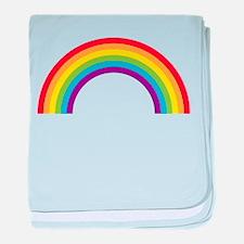 Cool retro graphic rainbow design baby blanket
