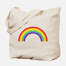 Cool retro graphic rainbow design Tote Bag