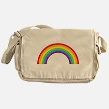 Cool retro graphic rainbow design Messenger Bag