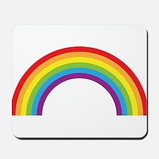 Cool retro graphic rainbow design Mousepad