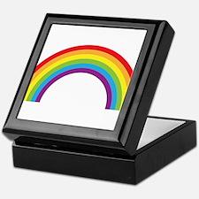 Cool retro graphic rainbow design Keepsake Box