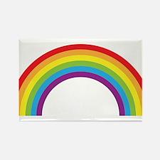 Cool retro graphic rainbow design Rectangle Magnet
