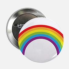 """Cool retro graphic rainbow design 2.25"""" Button"""