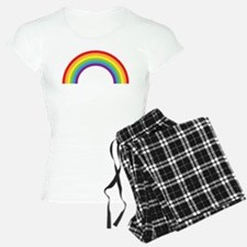 Cool retro graphic rainbow design Pajamas