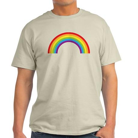 Cool retro graphic rainbow design Light T-Shirt