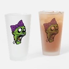 Zombie Bow Drinking Glass