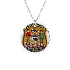 Delaware State Police patch Necklace