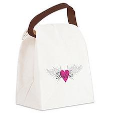 My Sweet Angel Dahlia Canvas Lunch Bag