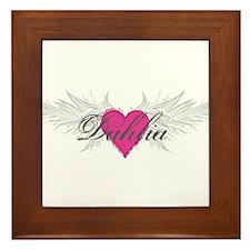 My Sweet Angel Dahlia Framed Tile