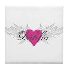 My Sweet Angel Dahlia Tile Coaster