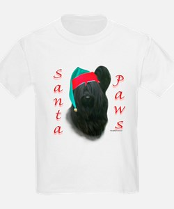 Santa Paws Skye Terrier  Kids T-Shirt