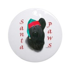 Santa Paws Skye Terrier  Ornament (Round)