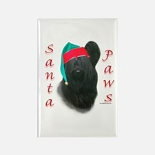Santa Paws Skye Terrier Rectangle Magnet