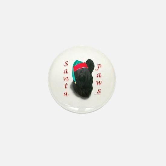 Santa Paws Skye Terrier Mini Button