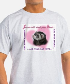 Ferret Ash Grey T-Shirt