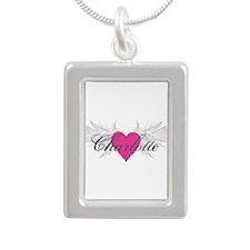 My Sweet Angel Charlotte Silver Portrait Necklace