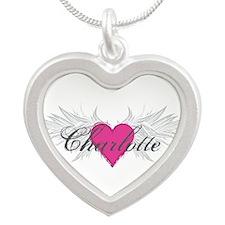 My Sweet Angel Charlotte Silver Heart Necklace