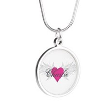 My Sweet Angel Charlie Silver Round Necklace