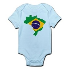 Brasil Flag Map Infant Bodysuit