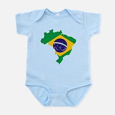 Brasil Flag Map Infant Bodysuit