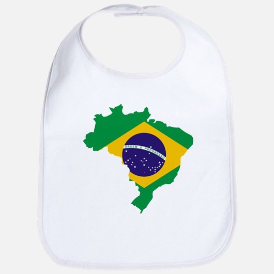 Brasil Flag Map Bib
