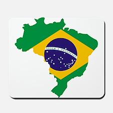 Brasil Flag Map Mousepad