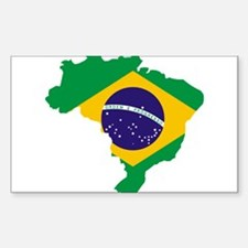 Brasil Flag Map Decal