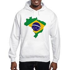 Brasil Flag Map Hoodie
