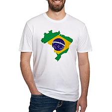 Brasil Flag Map Shirt