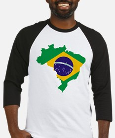 Brasil Flag Map Baseball Jersey