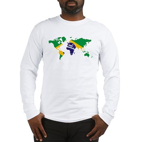 Brazil FlagWorld Long Sleeve T-Shirt