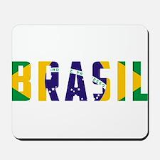 Brasil-Brazil Flag Mousepad