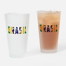 Brasil-Brazil Flag Drinking Glass