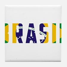 Brasil-Brazil Flag Tile Coaster