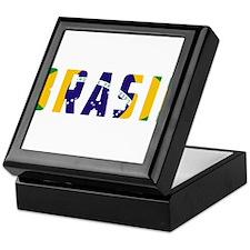 Brasil-Brazil Flag Keepsake Box