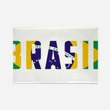 Brasil-Brazil Flag Rectangle Magnet