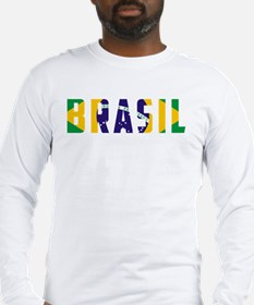 Brasil-Brazil Flag Long Sleeve T-Shirt