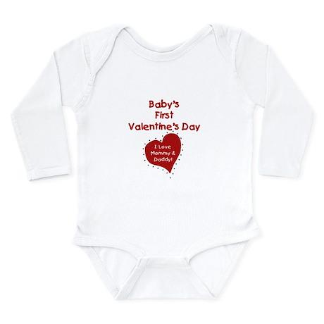 1st Valentine Mommy & Daddy Infant Creeper Body Su