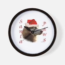 Santa Paws Sibe Wall Clock