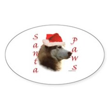 Santa Paws Sibe Oval Decal