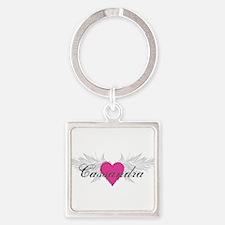 My Sweet Angel Cassandra Square Keychain
