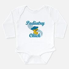 Podiatry Chick #3 Long Sleeve Infant Bodysuit