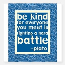 "Be Kind - Inspirational Square Car Magnet 3"" x 3"""