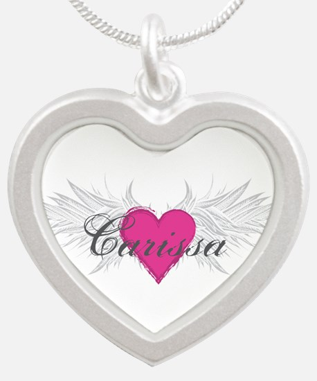 My Sweet Angel Carissa Silver Heart Necklace