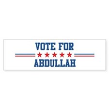 Vote for ABDULLAH Bumper Bumper Sticker