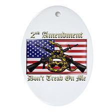 2nd Amendment Ornament (Oval)