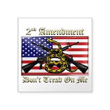 "2nd Amendment Square Sticker 3"" x 3"""