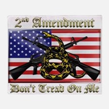 2nd Amendment Throw Blanket