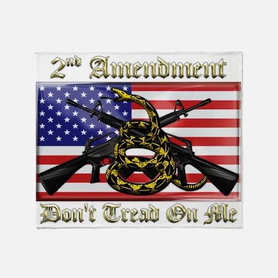 2nd Amendment Throw Blanket