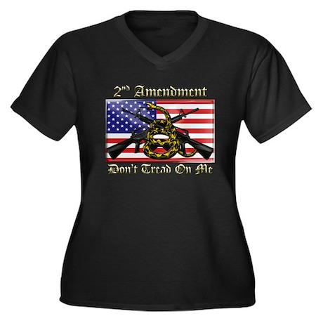 2nd Amendment Women's Plus Size V-Neck Dark T-Shir